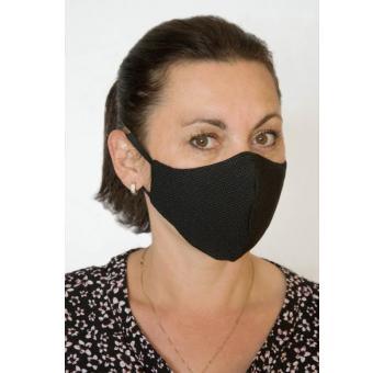 Ochranná rouška se stříbrem - maska - dvouvrstvá - černá