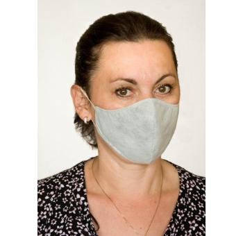Ochranná rouška maska - bílá - třívrstvá