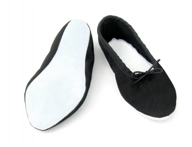 Cvička textil - podešev kůže - černá, bílá